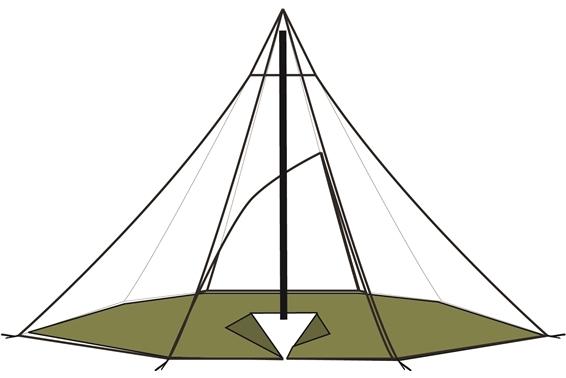 Lavvu 12-14 Boden achteckig
