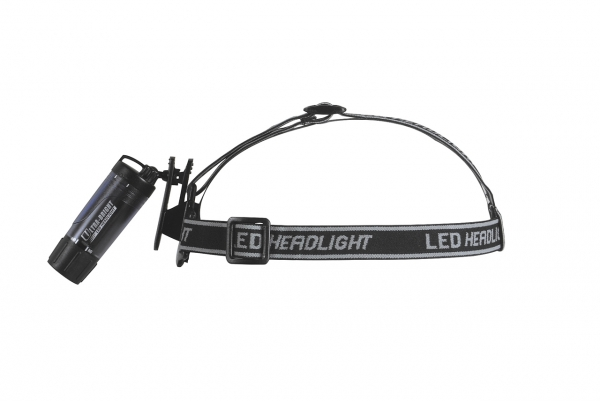 Basic Nature LED Clip Leuchte, mit Stirnband transparent, schwarz