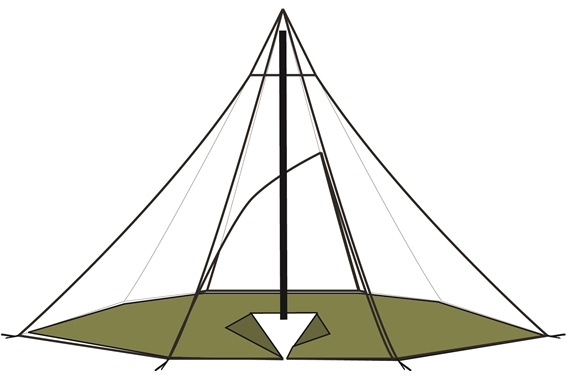 Lavvu 4-6 Boden achteckig